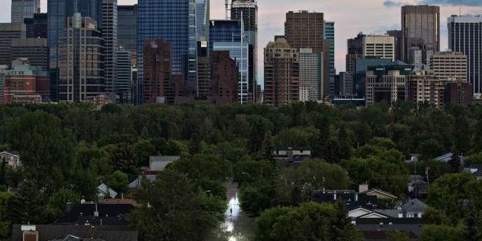 La ville de Calgary est inondée, le 21 juin 2013.