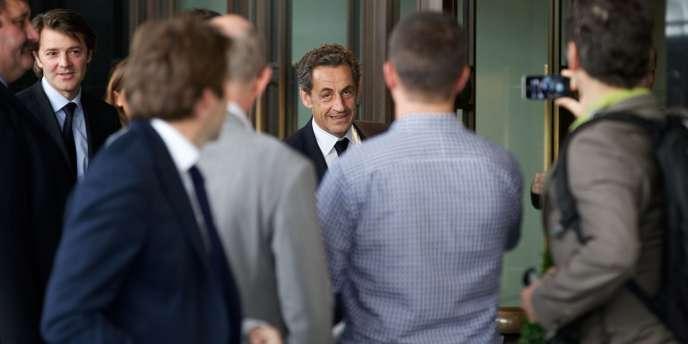 Nicolas Sarkozy, lors d'un déplacement à Londres le 3 juin.