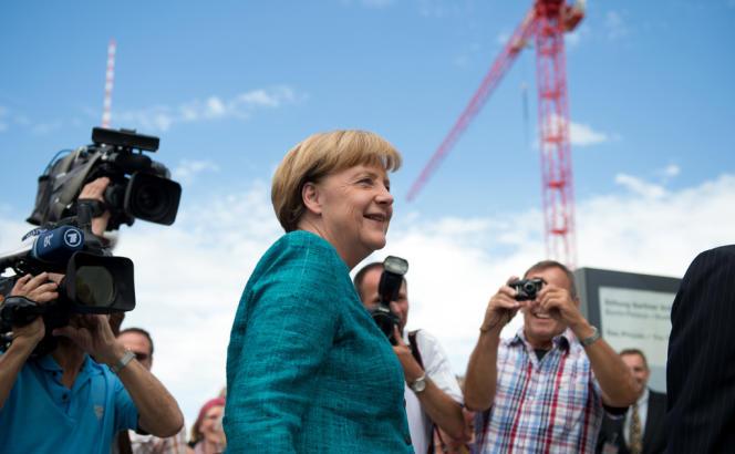 La chancelière Angela Merkel, candidate à sa réelection, dimanche 23 juin à Berlin, lors de la présentation du programme de la CDU.