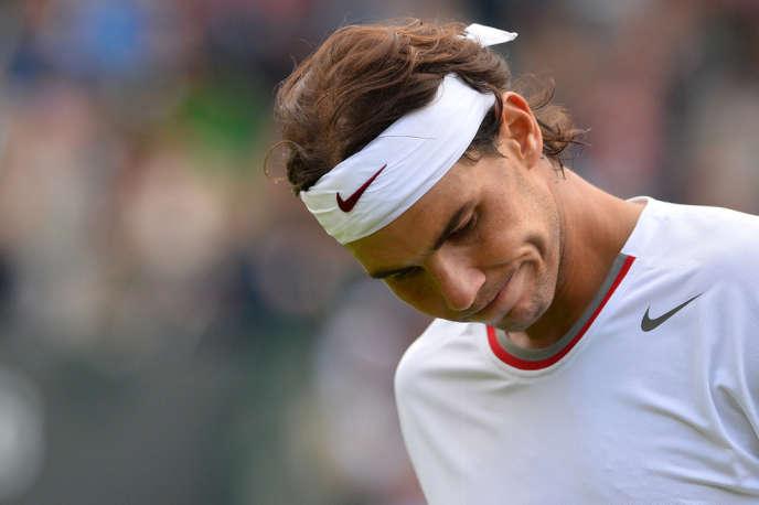 Rafael Nadal lors de son match contre le Belge Steve Darcis, le 24 juin.