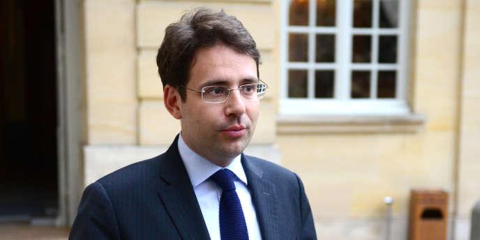 Matthias Fekl, député socialiste du Lot-et-Garonne, premier secrétaire de la fédération socialiste du département et conseiller régional d'Aquitaine, à Matignon, le 14 mai 2013.