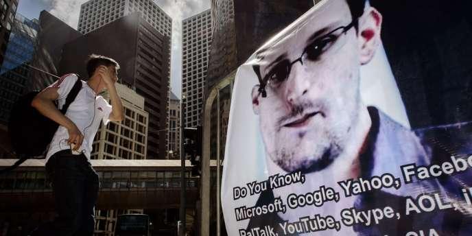 Une affiche de soutien à Edward Snowden à Hongkong, le 18 juin.