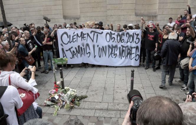 Manifestation à la mémoire de Clément Méric, le 6 juin, à Paris.