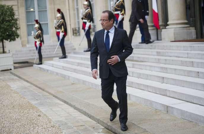 Francois Hollande, à l'Elysée le 21 juin.