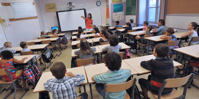 Une école primaire à Bordeaux, le 4 septembre 2012.