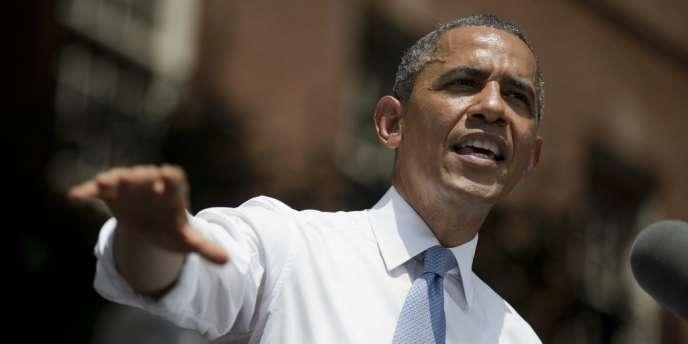 Barack Obama, lors de son discours prononcé, mardi 25 juin, à l'université de Georgetown, à Washington.
