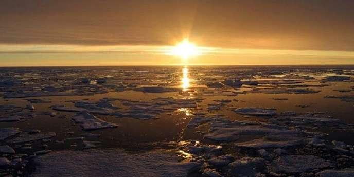 Banquise arctique canadienne.