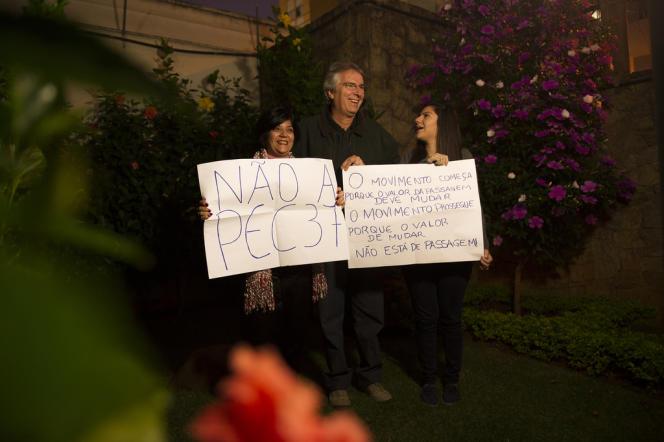A Sao Paulo, la famille Pacito n'est financièrement pas à plaindre, mais les parents ont manifesté sur l'insistance de leur fille, Luiza.