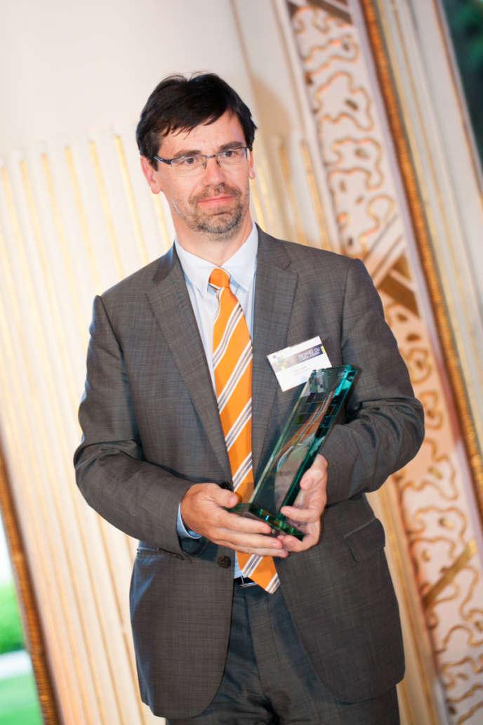 Bruno Rain, directeur général adjoint chargé des ressources humaines et de la responsabilité sociétale de Pernod Ricard, gagnant du Trophée du capital humain 2013.