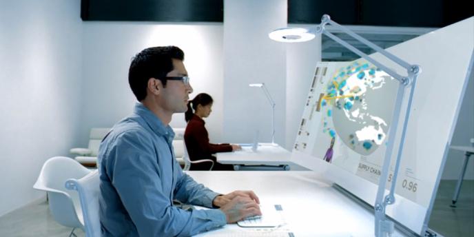 Saisie d'écran d'une vidéo diffusée par Microsoft pour présenter ses innovations.