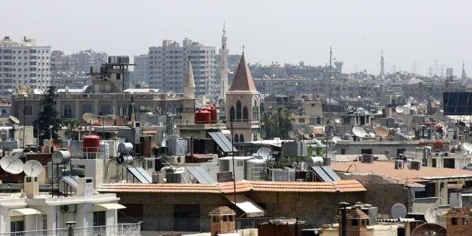 Vue de la capitale syrienne dominée par des minarets et des clochers, le 26 juin 2013.