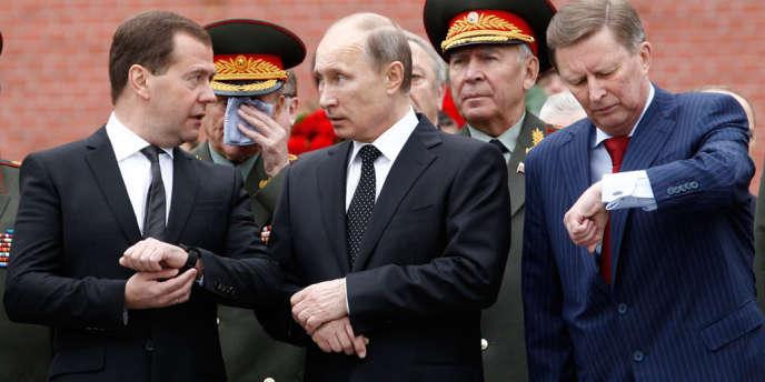 Vladimir Poutine et Dmitri Medvedev en juin 2013.