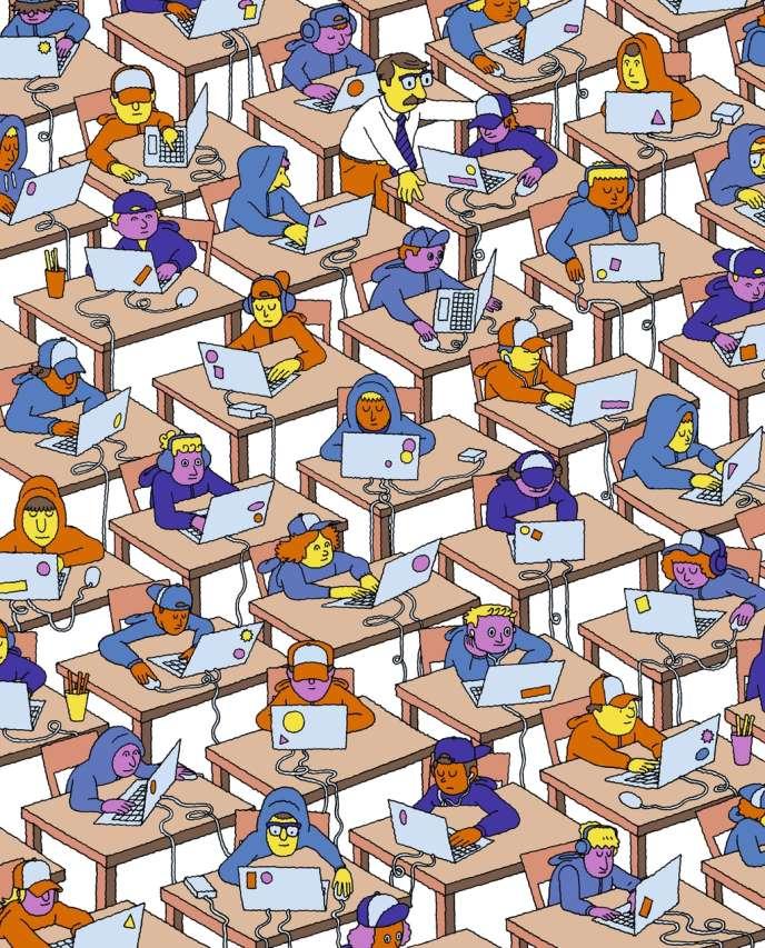 Illustrations Jim Stoten pour M Le magazine du Monde