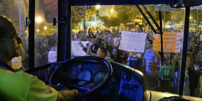Manifestation antigouvernementale à Rio de Janeiro, vendredi 28 juin.