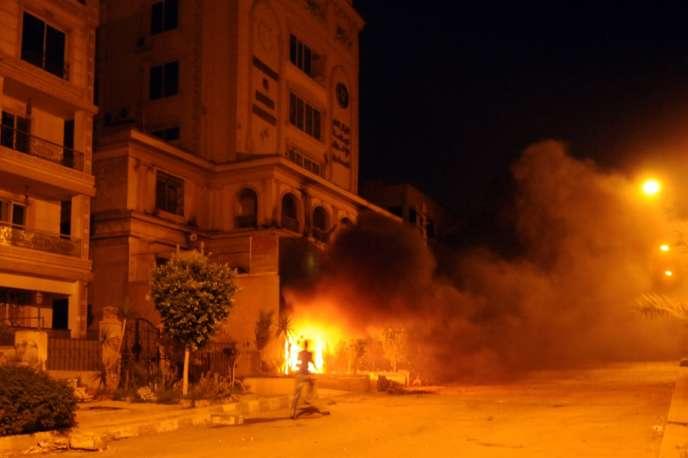 Le siège des Frères musulmans dans un quartier du Caire, le 30 juin.