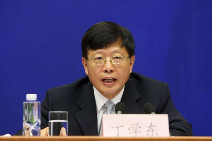 Ding Xuedong, lors d'une conférence de presse, à Pékin, en août 2009.