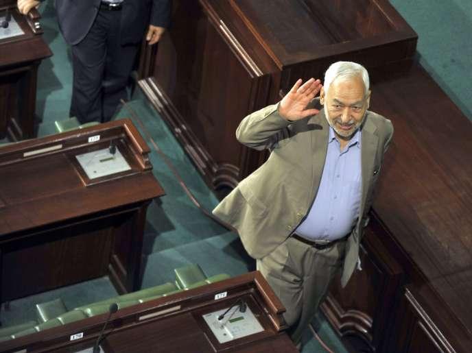 Rached Ghannouchi, le chef du parti Ennahda, le 1er juillet, à l'Assemblée constituante.