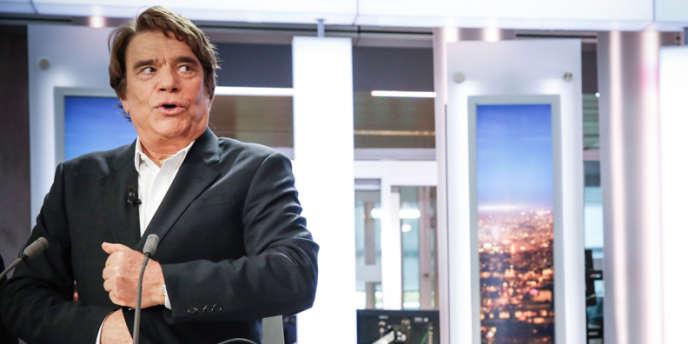 Bernard Tapie sur le plateau du journal de 20 heures de France 2, lundi 1er juillet.
