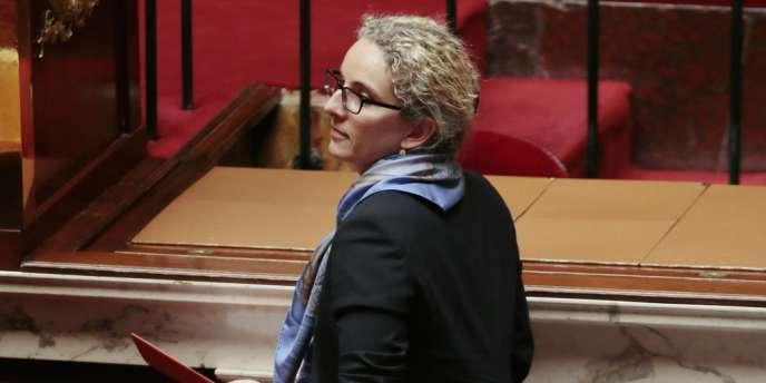 Delphine Batho lors de ses dernières heures comme ministre de l'écologie, mardi 2 juillet, à l'Assemblée.