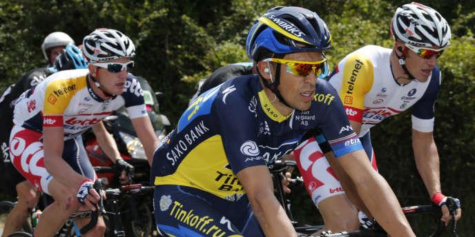 Alberto Contador entre Porto Vecchio et Bastia (Corse) le 29 juin.