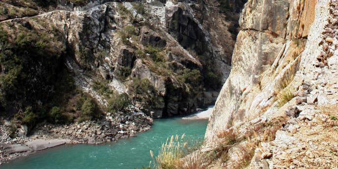 Le fleuve Nu Jiang, en 2006.