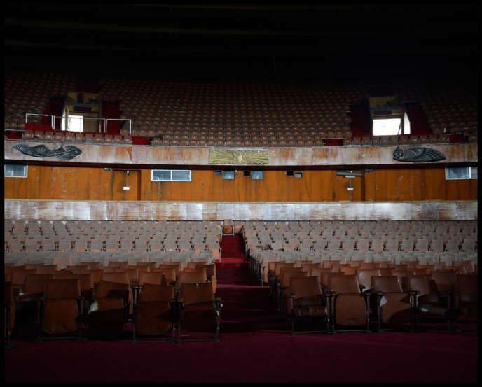 Le théâtre national nigérian en rénovation et à l'abandon, à Lagos (Nigeria), en juin 2013.