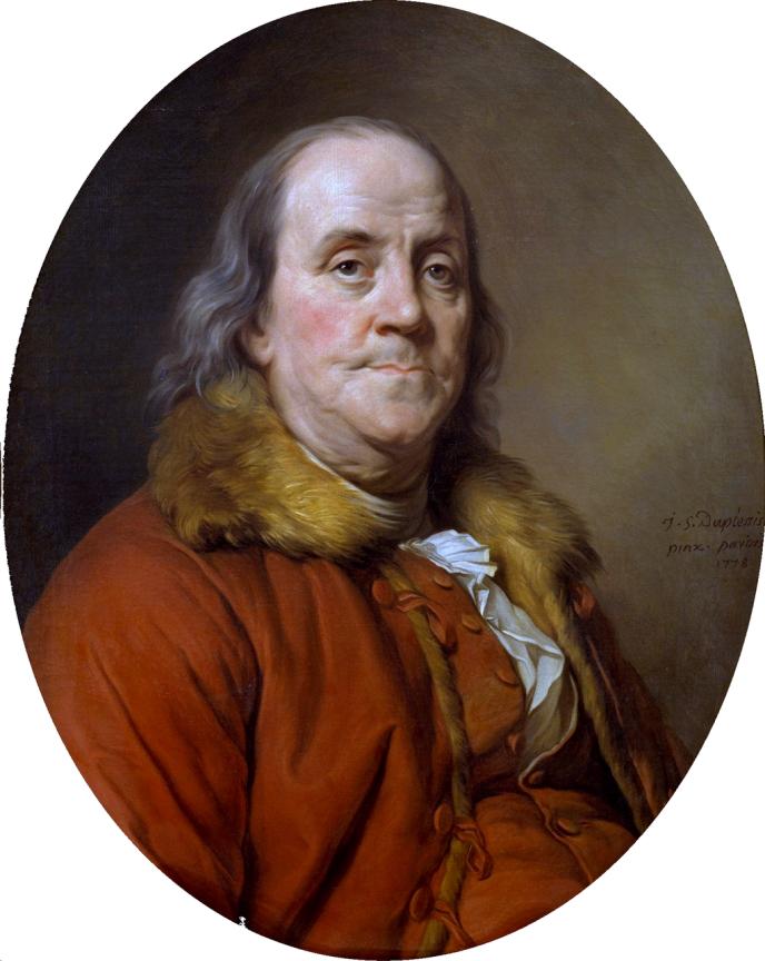 Portrait de Benjamin Franklin (1778) par Joseph-Siffrein Duplessis
