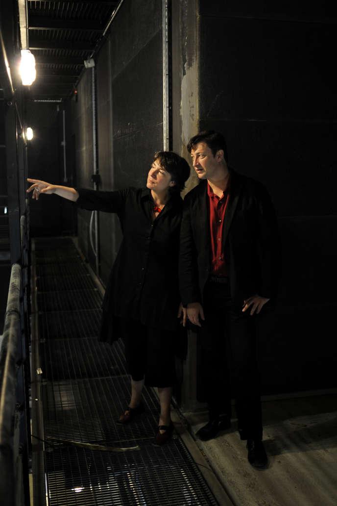 Hortense Archambault et Vincent Baudriller dans les locaux de La FabricA, en juin 2013.
