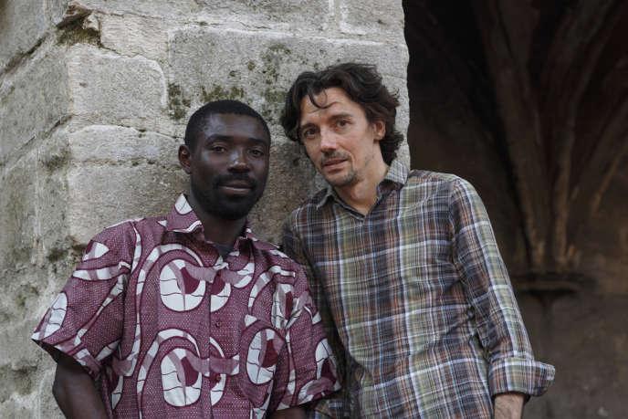 Dieudonné Niangouna et Stanislas Nordey à Avignon en juillet 2012.