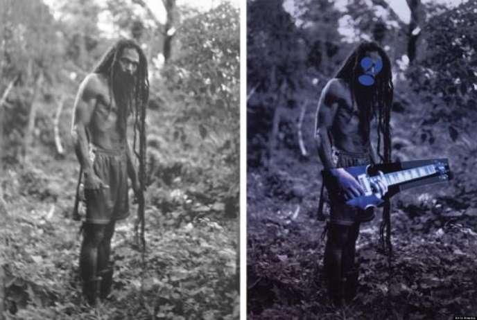 La transformation de la photographie de Patrick Cariou (à gauche) par Richard Prince (à droite) est au cœur du procès qui oppose les deux artistes.