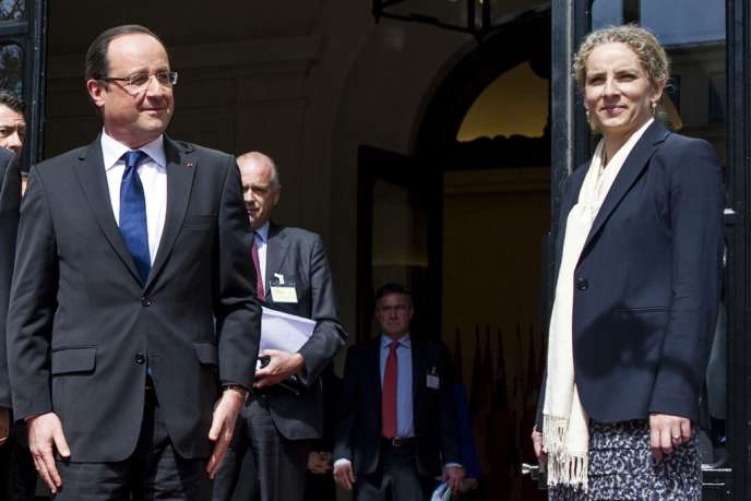 François Hollande et Delphine Batho, le 17 avril 2013.