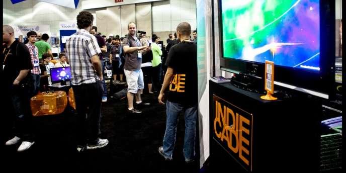 Le stand de l'Indiecade, lors du salon de l'E3.