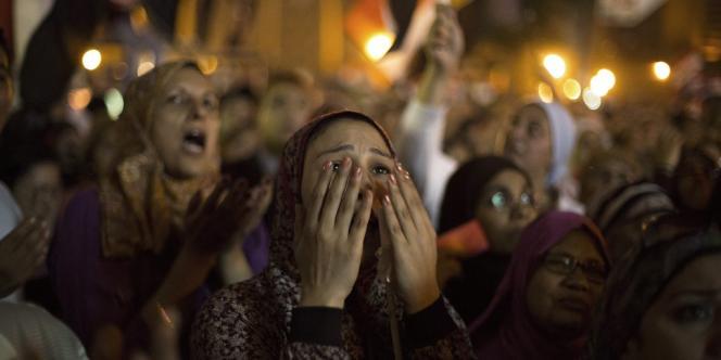 Human Rights Watch fait état de 91 cas d'agressions sexuelles au moins depuis le 28 juin sur la place Tahrir, certaines tournant au viol.