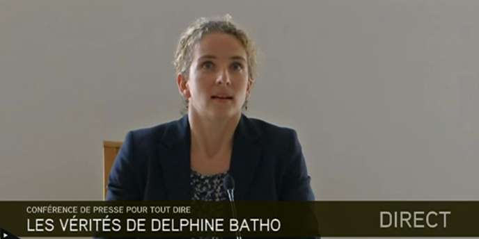 Delphine Batho, lors de sa conférence de presse, le 4 juillet 2013.