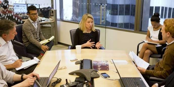 La patronne de Yahoo!, Marissa Mayer, à San Francisco le 20 juin.