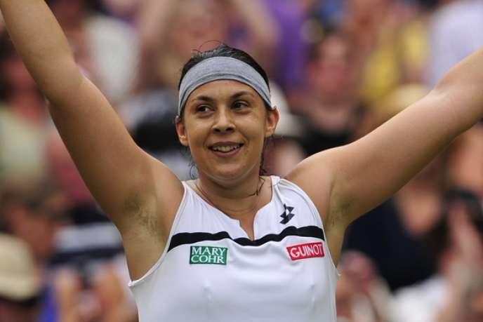 Marion Bartoli, le 4 juillet 2013 à Wimbledon.