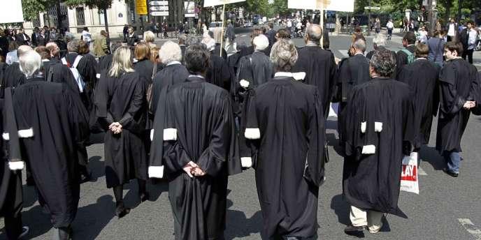 Une manifestation des avocats, à Paris, en 2011.