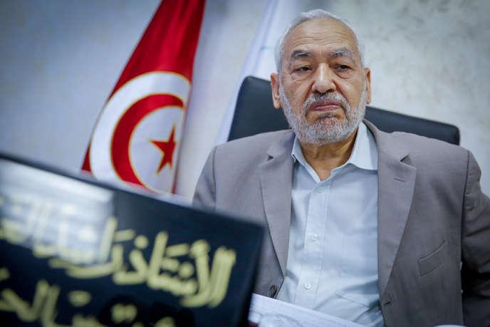 Rached Ghannouchi, président du parti islamiste au pouvoir Ennahda, le 4 juillet à Tunis.