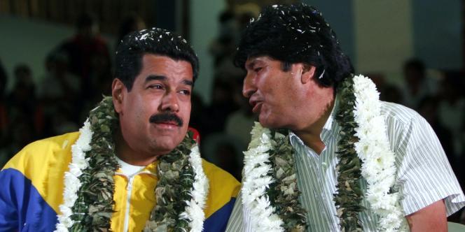 Nicolas Maduro et Evo Morales, le 4 juillet.