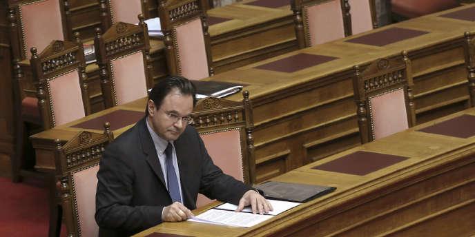 L'ancien ministre grec des finances, Georges Papaconstantinou, lors d'une session du Parlement, le 17 janvier.