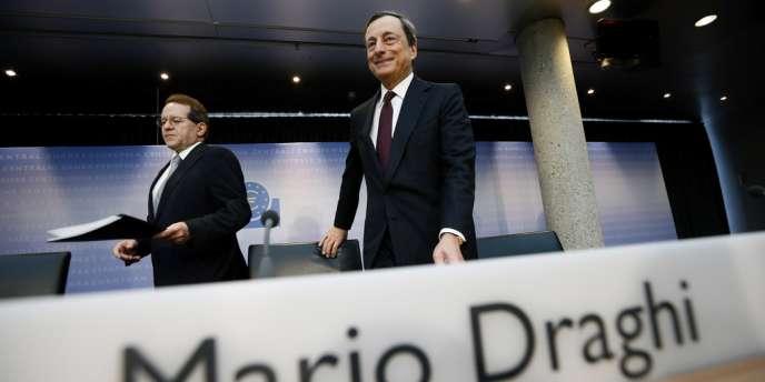 En annonçant un arsenal de mesures allant de la baisse de son principal taux directeur à un prêt de 400 milliards d'euros aux banques, Mario Draghi, le président de la BCE, a permis aux Bourses mondiales de poursuivre leur ascension.