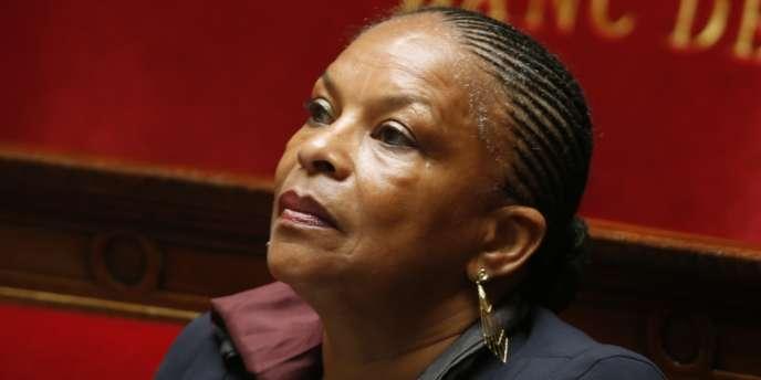 Christiane Taubira, le 25 juin à l'Assemblée.