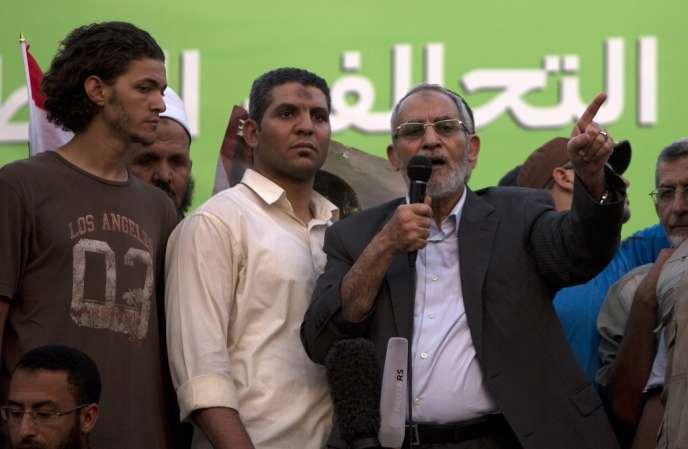Mohamed Badie, guide suprême des Frères musulmans, le 5 juillet au Caire.