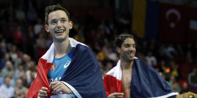Simon Denissel, tout sourire lors des championnats d'Europe, le 3 mars à Goteborg.