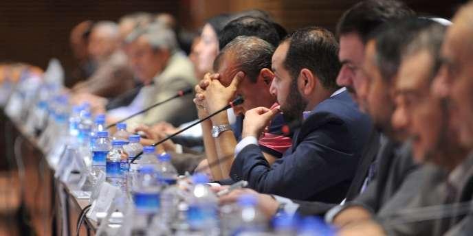 La Coalition de l'opposition syrienne réunie à Istanbul, le 4 juillet.