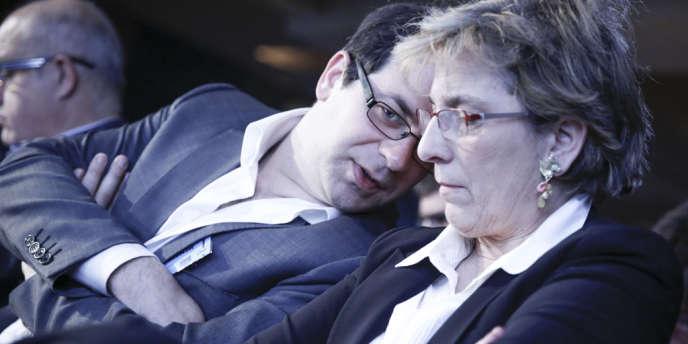 Emmanuel Maurel et Marie-Noëlle Lienemann, du courant Maintenant la gauche, à Paris le 16 juin 2013.