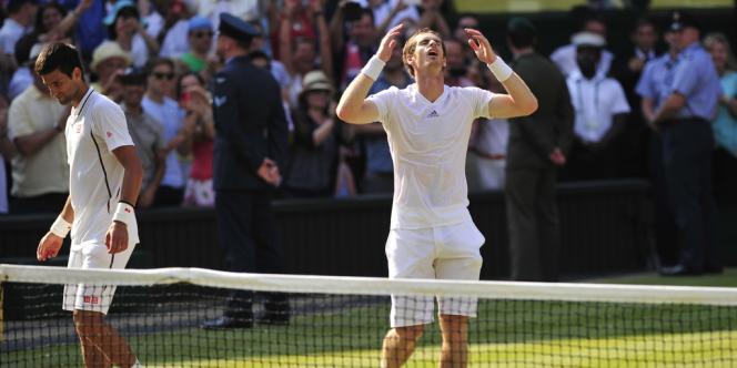 Andy Murray a battu Novak Djokovic en finale, devenant le premier Britannique à remporter Wimbledon depuis Fred Perry en 1936, le 7 juillet à Londres.
