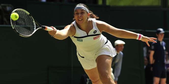 Marion Bartoli, lors de la finale à Wimbledon le 6 juillet 2013, qu'elle disputait face à l'Allemande Sabine Lisicki.