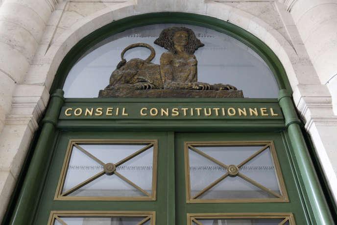 L'entrée du Conseil constitutionnel français.