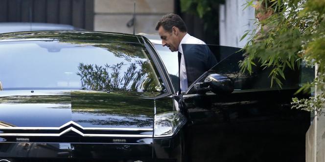 Nicolas Sarkozy, lundi matin à Paris.